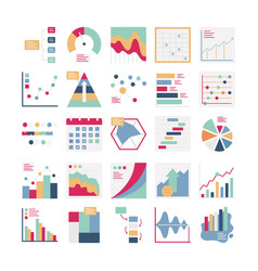 Graph icons set every single icon can easi vector