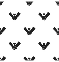 Hands icon in black style isolated on white vector