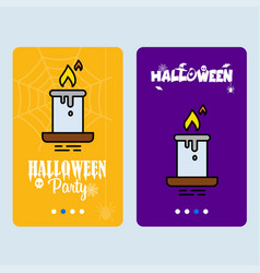 happy halloween invitation design with candle vector image