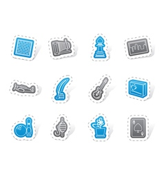 Hobby leisure and holiday icons vector