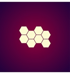Honeycomb sign icon Honey cells symbol vector image