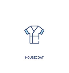 housecoat concept 2 colored icon simple line vector image