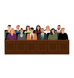 Jury in court trial vector