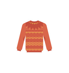 Knitted sweater - cute winter vector