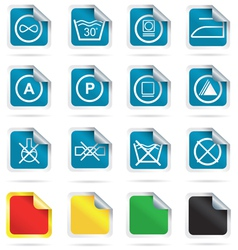 Laundry symbols vector image vector image