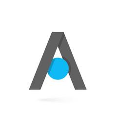 letter a logo branding on white background vector image