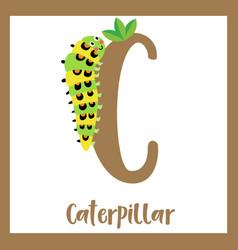 Letter c vocabulary caterpillar vector