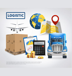 Logistic colored poster vector