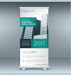 modern standee rollup banner design template vector image