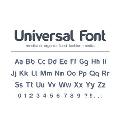 Modern typeface universal font food vector
