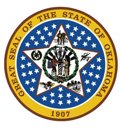 Oklahoma state seal vector