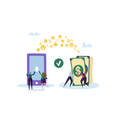 Online banking concept flat people characters vector