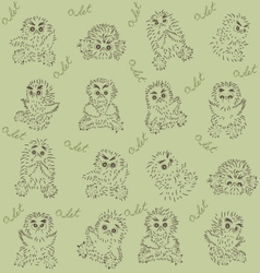 owlets vector image