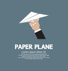 Paper plane In Hand vector image