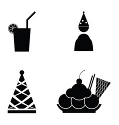 party icon set vector image
