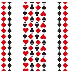 Pattern with playing cards symbols vector