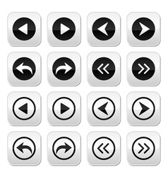Previous next arrows buttons set vector image