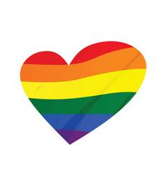 rainbow heart lgbt concept vector image