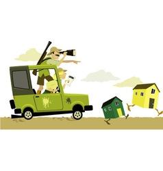 Real estate safari vector