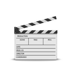 Realistic movie clapperboard vector