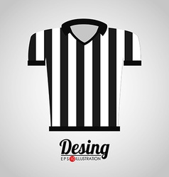 referee shirt vector image