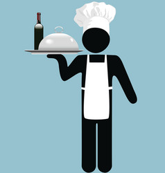 restaurant waiter vector image
