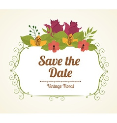 Save date design vector