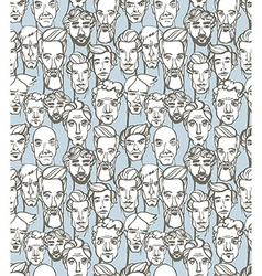 Seamless pattern of male doodle hand drawn vector