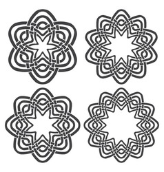 Set of magic knotting rings 4 circular decorative vector
