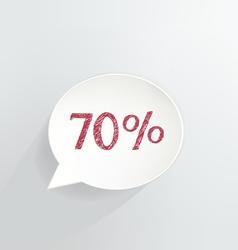 Seventy Percent Discount vector image