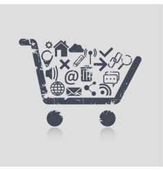 Shopping cart web vector