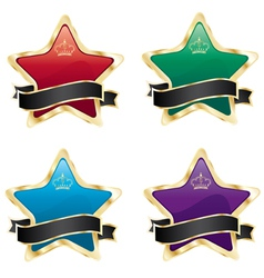 star labels vector image