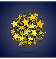 Stars circle vector