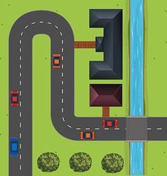 Street full of cars vector