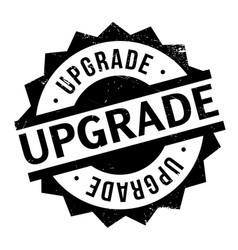 upgrade rubber stamp vector image