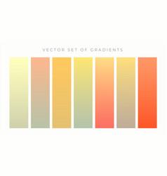 warm colors vibrant gradient set vector image
