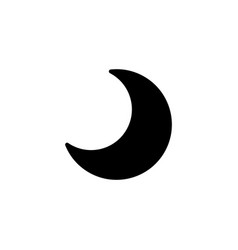 web icon moon crescent black on white background vector image