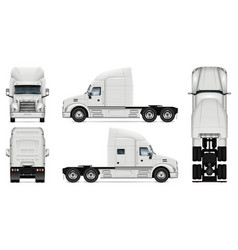 white truck template vector image