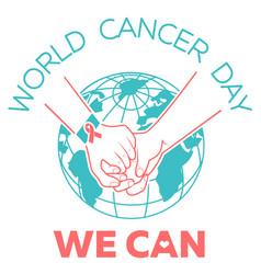 World cancer day vector