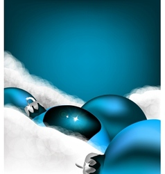Xmas greeting card christmas blue toy vector