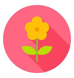 Yellow Flower Circle Icon vector
