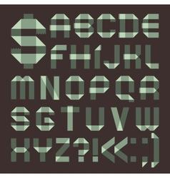 Font from spindrift scotch tape - Roman alphabet vector image