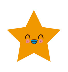 kawaii yellow star winner image vector image vector image