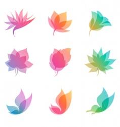 pastel nature elements for design vector image