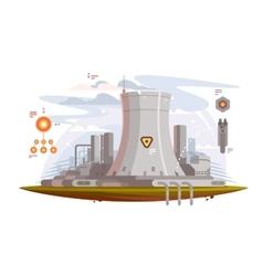 Powerful nuclear reactor vector image