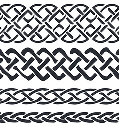Set of Celtic Pattern Borders vector image