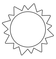 sun solar system astronomy outline vector image