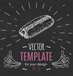 fast food menu design template hand drawn vector image