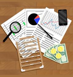 financial analysis of statistics vector image
