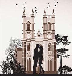man kissing woman vector image